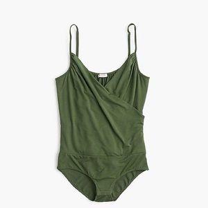 nwt jcrew drapey wrap front cami bodysuit j1514